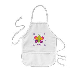 Delantal Infantil La mariposa colorida personalizada embroma el