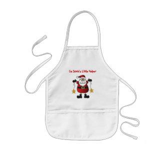 Delantal Infantil Soy el pequeño ayudante de Santa el | Papá Noel