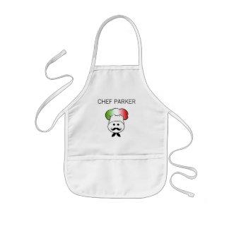 Delantal italiano del cocinero de los niños