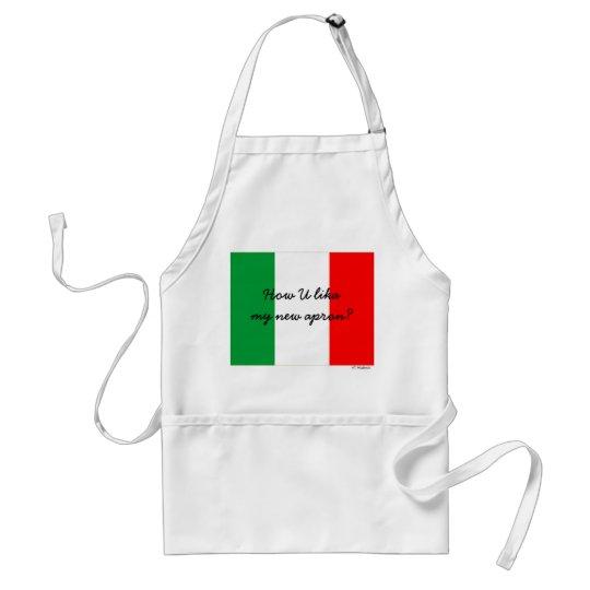 Delantal italiano divertido del cocinero