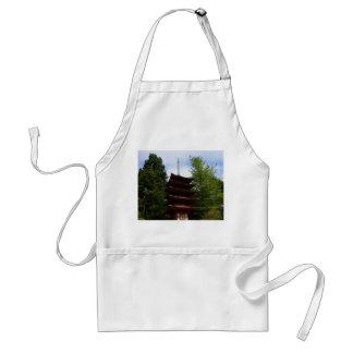 Delantal japonés de la pagoda del jardín de té de