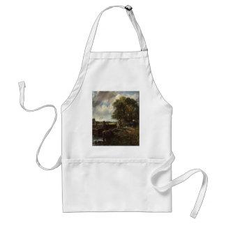 Delantal John Constable - la cerradura - paisaje del campo