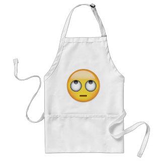 Delantal La cara con el balanceo observa Emoji