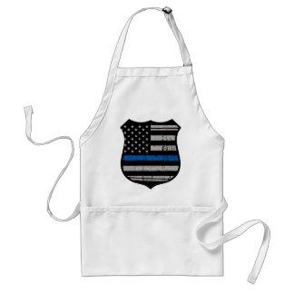 Delantal La policía Badge Blue Line