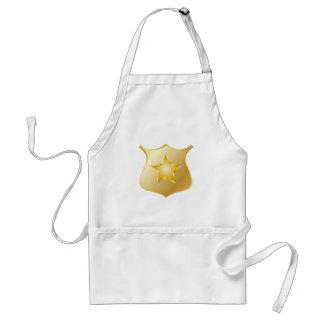 Delantal La policía del oro Badge