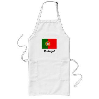 Delantal Largo Cocina de la bandera de Portugal que cocina el