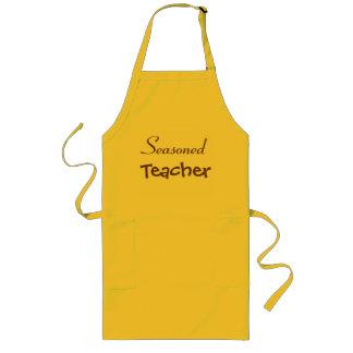 Delantal Largo Idea sazonada del regalo del retiro del profesor -
