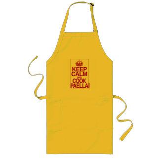Delantal Largo Mantenga Paella tranquilo y del cocinero