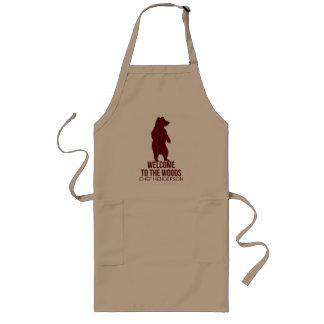 Delantal Largo Tema de la cabina para el cocinero con nombre