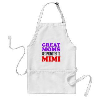 Delantal Las grandes mamáes consiguen promovidas Mimi al