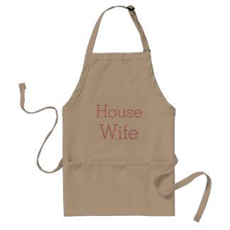 Delantal lindo de la esposa de la casa