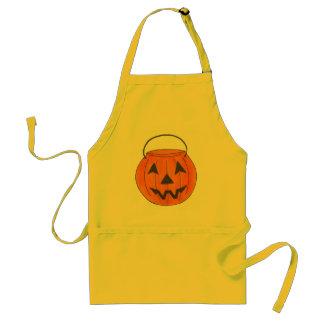 Delantal Linterna Halloween del o de Jack de la calabaza