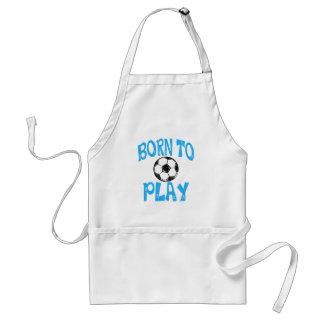Delantal llevado jugar a fútbol