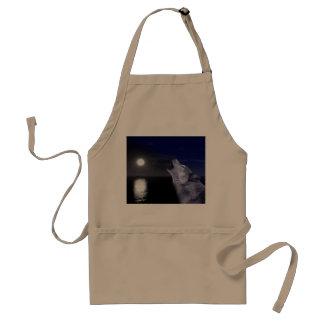Delantal Lobo de mar - lobo de la luna - Luna Llena - lobo