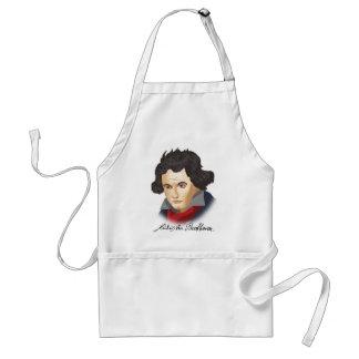Delantal Ludwig Van Beethoven en el estilo cartoon