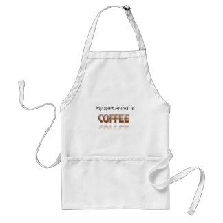 Delantal Mi animal del alcohol es café