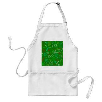 Delantal Modelo verde de Navidad
