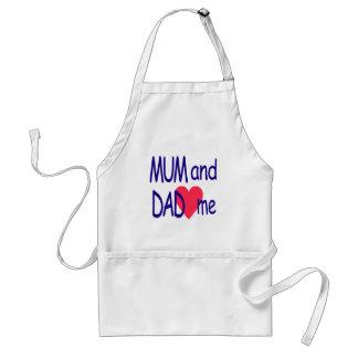 Delantal Momia y papá yo, mamá