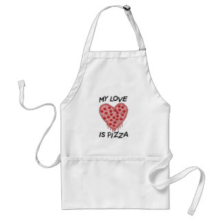 Delantal My Love Is pizza