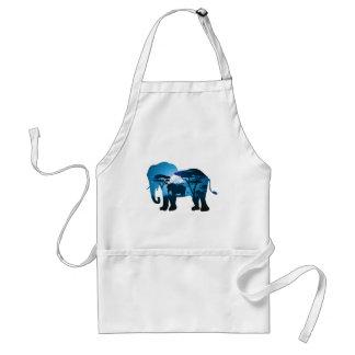 Delantal Noche africana con el elefante 6
