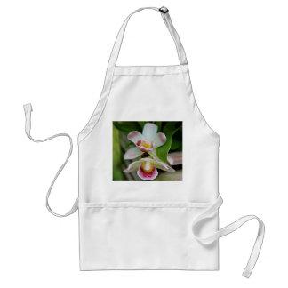 Delantal - orquídea en abanico
