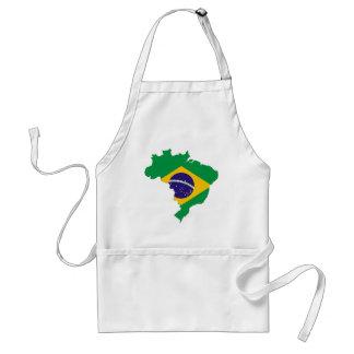 Delantal País del brasilen@o del símbolo del mapa de la