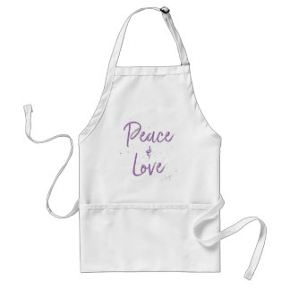 Delantal Paz-y-Amor-Púrpura