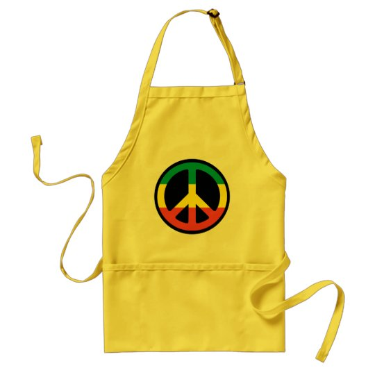 Delantal peace rasta