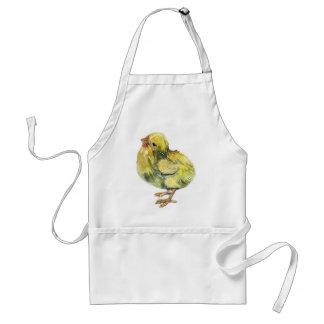 Delantal Pequeño pollo del amarillo del bebé pintado