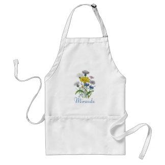Delantal personalizado de los Cornflowers