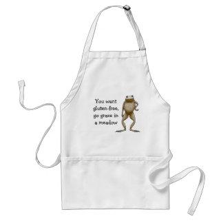 Delantal Plantilla Gluten-Libre del sapo de Obadiah