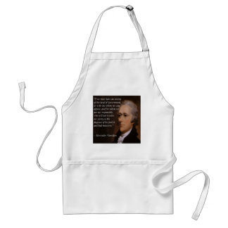 """Delantal Regalo del """"líder enemigo"""" de Alexander Hamilton"""