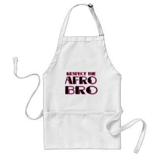 Delantal RESPETE el negro de Bro- PNK del AFRO