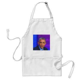 Delantal Retrato abstracto de presidente Barack Obama 8