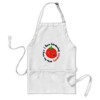Delantal Retruécano positivo del tomate - de mis tomates