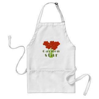 Delantal rojo brillante lindo del jardinero de las