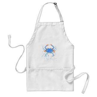 Delantal Salpicadura de la pintura del cangrejo azul de la
