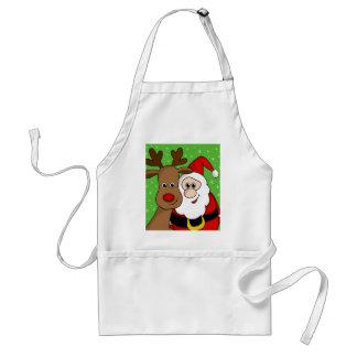 Delantal Sefie de Santa y de Rudolph