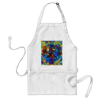 Delantal Símbolo de paz colorido del mosaico