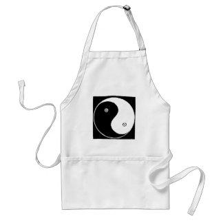 Delantal Símbolo de Yin Yang del chino