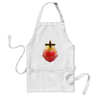 Delantal Símbolo sagrado del cristiano del corazón
