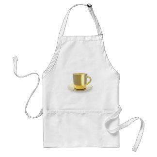 Delantal Taza de café de oro