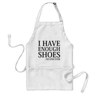 Delantal Tengo bastantes zapatos