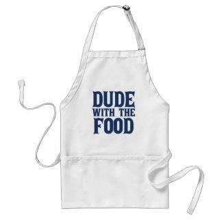 Delantal Tipo con el azul de la comida