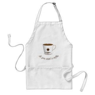 Delantal Usted quiere un café