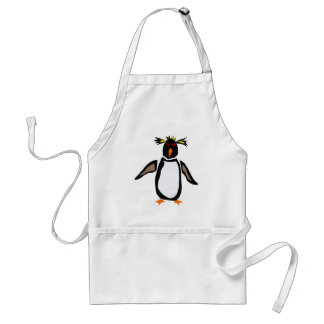 Delantal WW- arte divertido del primitivo del pingüino de R