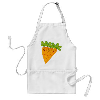 Delantal Zanahorias divertidas del jardín