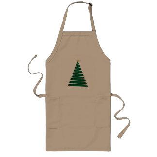 Delantales verdes del árbol de navidad