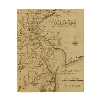 Delaware Impresión En Madera