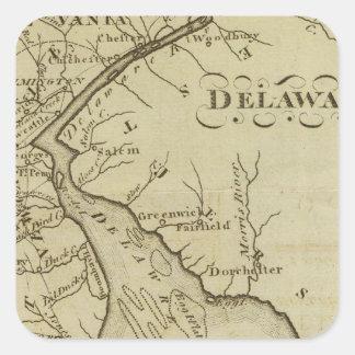 Delaware Pegatina Cuadrada
